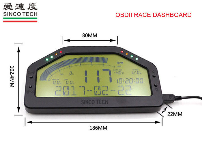 Easy Install Race Car Dashboard Universal Type 6.5 Inch For OBD II Protocol Cars